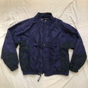 Sun Mountain Sports Dark Purple Green Plaid Jacket